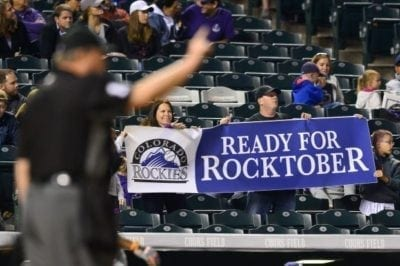 Don't forget to bring your towel! The Rockies have officially made it to the post-season. Get ready for Rocktober at The Sportsbook Bar & Grill.