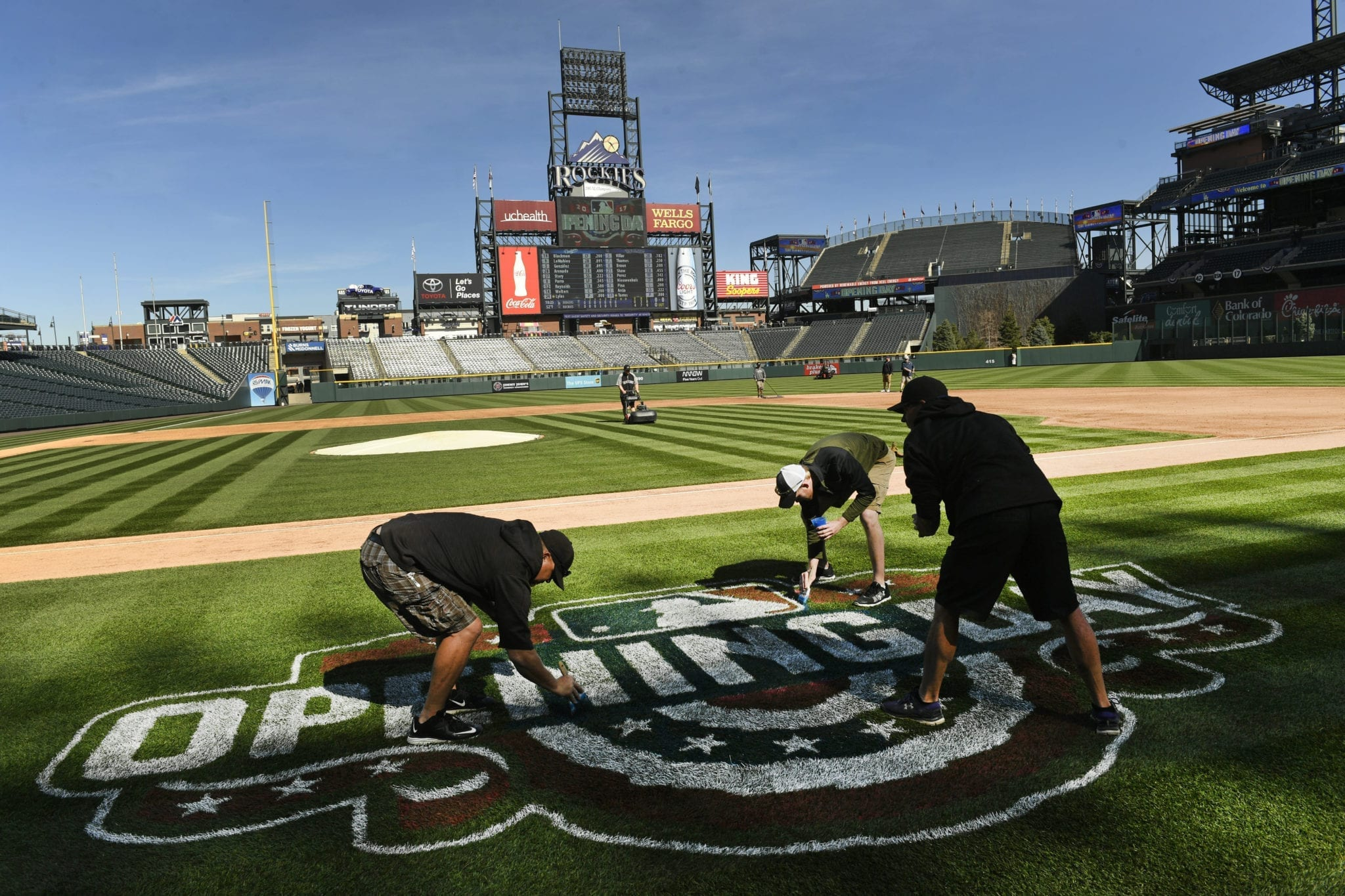 The Colorado Rockies Home Opener on April 5th, 2019.