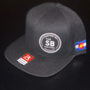 Black snapback with Colorado logo and white badge